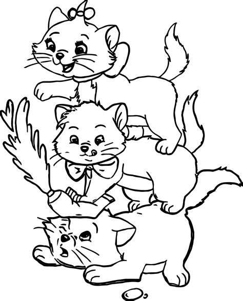 Coloring Page Sassy Marie Sitting Berlioz Toulouse Duchess