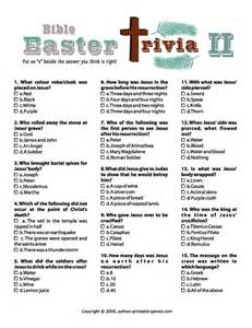 Printable Easter Trivia