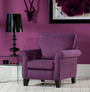 Modern style living room with purple accent chair and for Purple living room chair