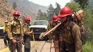 Colorado National Guard Firefighters Battle Blaze - YouTube