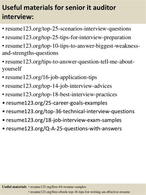 Senior It Auditor Resume by Top 8 Senior It Auditor Resume Sles