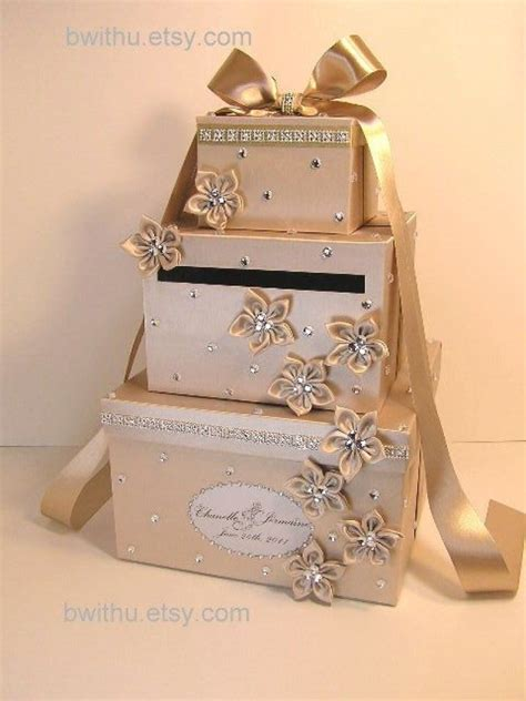 luxury wedding gift card box diy wedding ideas