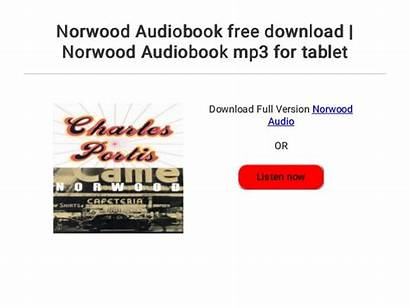 Norwood Audiobook Mp3 Tablet
