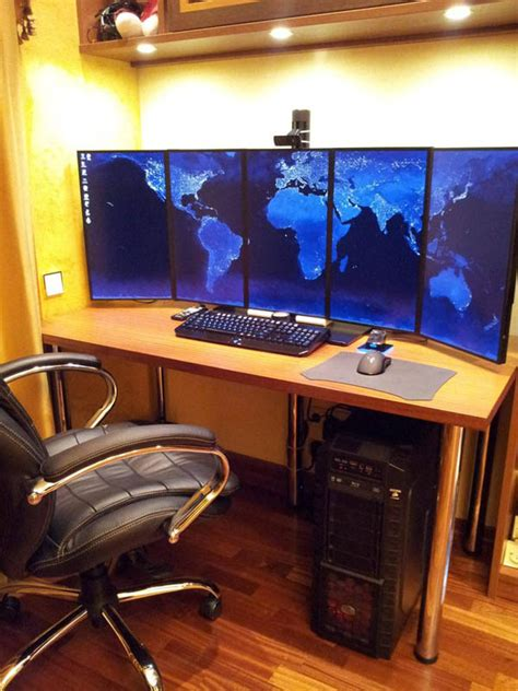 multi monitor gaming desk 18 really amazing computer stations twistedsifter