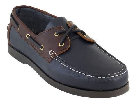 Best Value For Money Boat Shoes by Leather Deck Shoes Navy Brown Leather