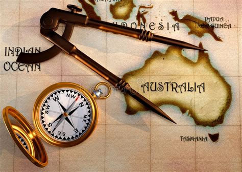 map  compass stock illustration image