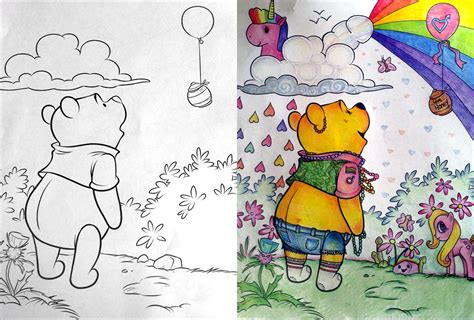 pooh     festival childrens coloring book