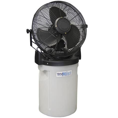 portable patio misting fans versamist portable mist fan 10 gallon aquality