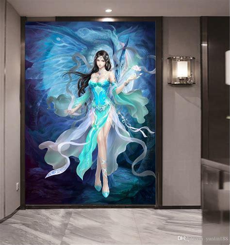 custom  size  wallpaper game anime beautiful girl