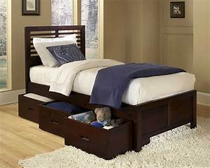 Paula Youth Twin Bed With Three Storage Boxes Kids Beds