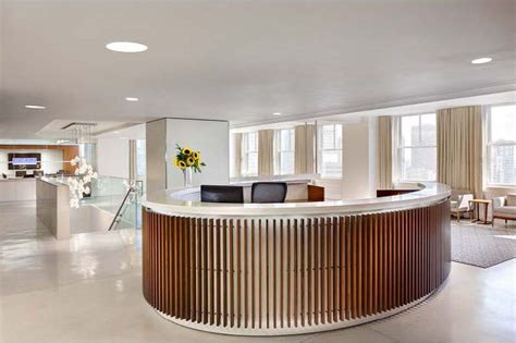 circular reception desk lobby reception desk svend nielsen custom furniture and