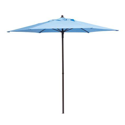 Patio Umbrella by Hton Bay 7 1 2 Ft Steel Patio Umbrella In Periwinkle