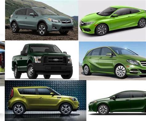crazy car colors   models  offered  green