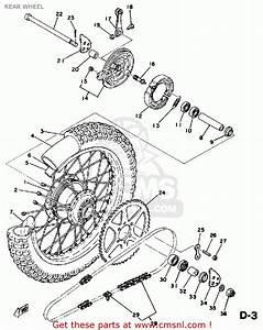 Yamaha Dt125 1978 Usa Rear Wheel
