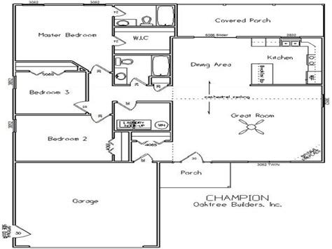 Single Story Open Floor Plans Single Story Open Floor ...