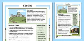 Castles Facts for Kids - KS1 Non-Chronological Reports