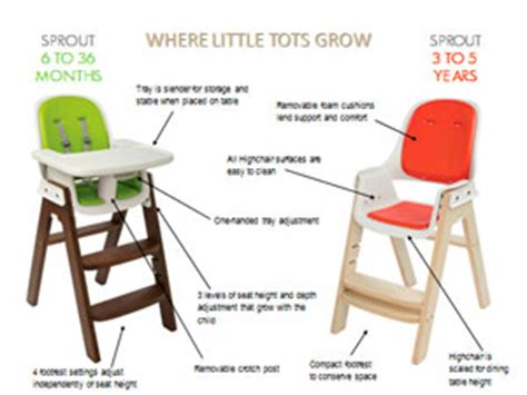 Oxo Tot Seedling High Chair Assembly by Oxo Tot Sprout Highchair Green Walnut Co Uk Baby