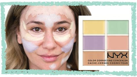 nyx colour correcting concealer palette colour correcting tutorials popsugar