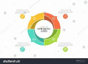 Infographic Design Layout Round Diagram Divided Stock Vector 588132377