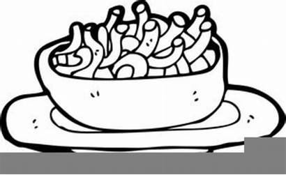 Clipart Cheese Macaroni Mac Coloring Clip Pages