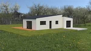 Maison Moderne Toit Plat : maison toit plat en tole ~ Nature-et-papiers.com Idées de Décoration