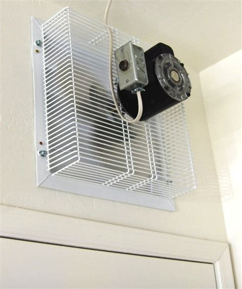 garage wall exhaust fan gft 16 garage fan thru wall cool my garage
