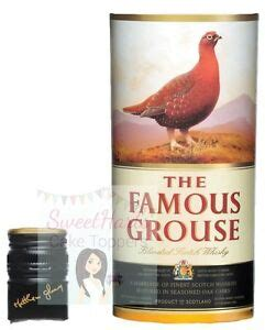 famous grouse whisky bottle label edible icing cake topper