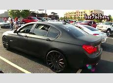 FLAT BLACK BMW 760i on 22