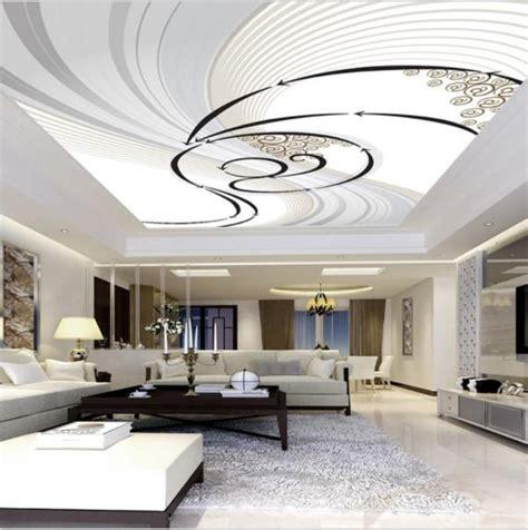 black  white swirl ceiling wall mural custom