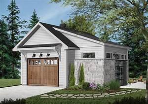 Detached Garage Plan With Interior Work Space