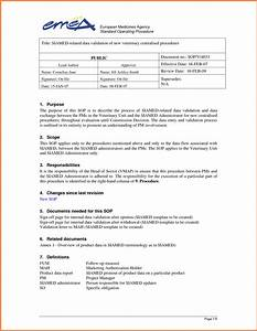 6 standard operating procedure template word sales With sales sop template