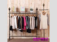 2018 Young Wrought Iron Clothing Rack Clothing Store