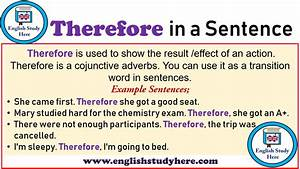 Therefore In A Sentence