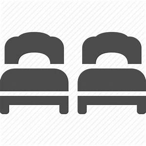 Bed, beds, double, hotel, room, twin icon | Icon search engine