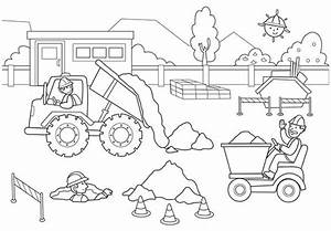 Construction Coloring Pages Getcoloringpagescom