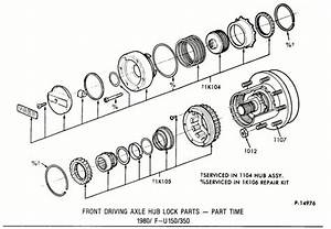 4x4 Manual Locking Hubs 1984 Ford F250 Exploded Diagram 27911