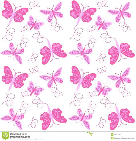 seamless butterfly pattern stock vector illustration