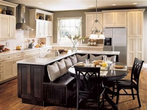 kitchen island with seating area picture of classic chic home unique and inspiring kitchen island ideas
