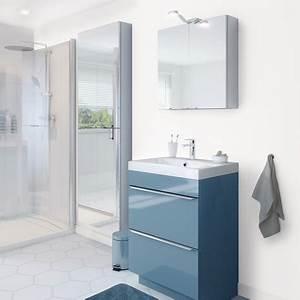 Vasque à Poser Brico Depot : meuble sous vasque poser bleu imandra l 60 x h 82 ~ Dailycaller-alerts.com Idées de Décoration