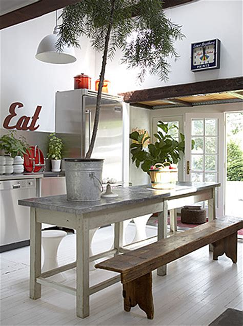 decoracion facil  comedor  bancos de madera