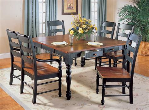 hand distressed black antique cherry dinette table woptions