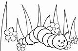 Worms Coloring Pages Cartoon Garden Creeping Printable Worm Funny Children sketch template