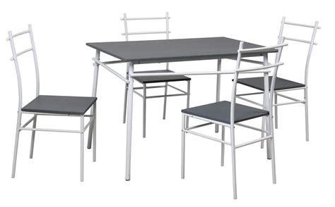 table de cuisine grise table de cuisine grise et 4 chaises mulko lestendances fr
