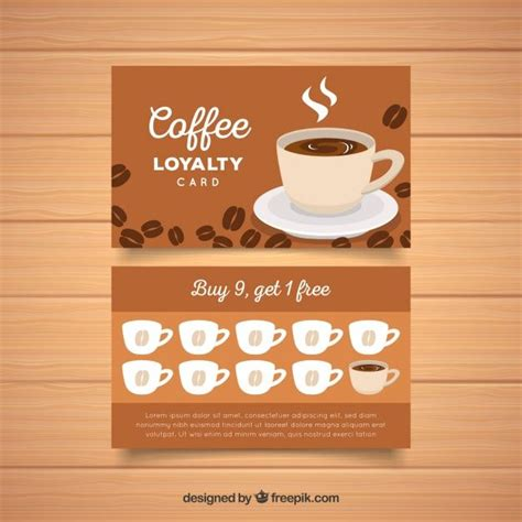 loyalty card template  coffee coupons