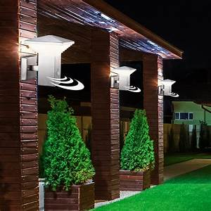Lampen Für Garten : 3er set led au en lampen bewegungsmelder edelstahl wand lampen garten terrassen beleuchtung ip44 ~ Eleganceandgraceweddings.com Haus und Dekorationen