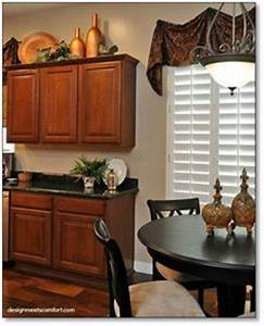 How to decorate above your kitchen cabinets Design by