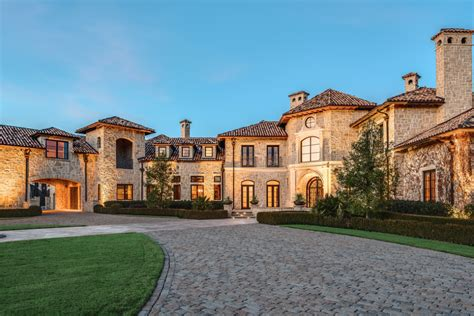 gorgeous  square foot tuscan stone mansion  plano