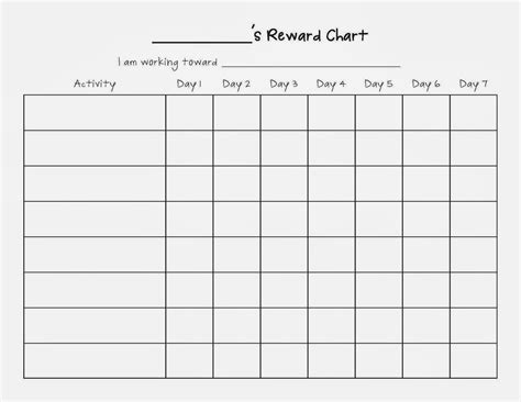 House Chart Template by Weekly Reward Chart Blank Template For Children Helloalive