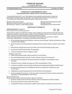 insurance claims representative resume sample 049 http With claims adjuster duties