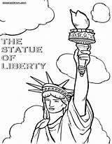 Liberty Statue Coloring Colorings York sketch template